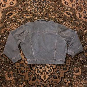 Vintage Jackets & Coats - Vintage Oversized Gray Jean Jacket size Medium EUC